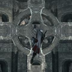 Ezio doorkruist de basiliek.