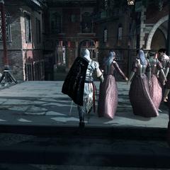 Ezio dérobant des rubans