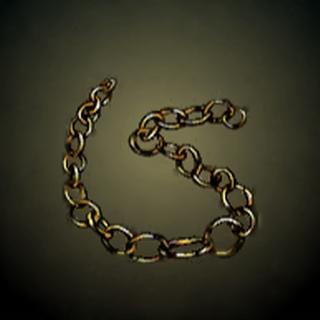 金炼 - 炼上串连的金块被设计为可以扭开作为货币。