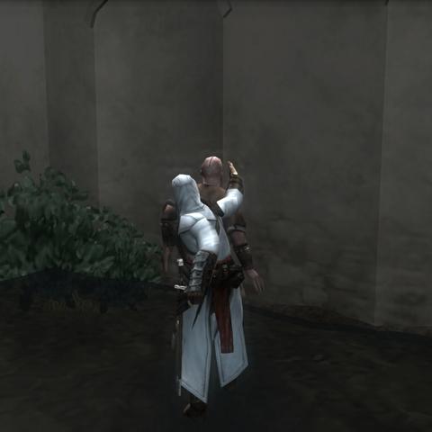 Altaïr assassinant <b>Telemach</b>