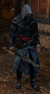 Ezio z mieczem Vlada Palownika (by Kubar906)