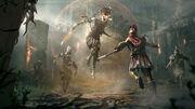 Medusa and Alexios artwork - Assassin's Creed Odyssey