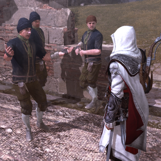 Les voleurs réclamant l'aide d'Ezio
