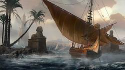 DTAE Ship Alexandria - Concept Art by Martin Deschambault