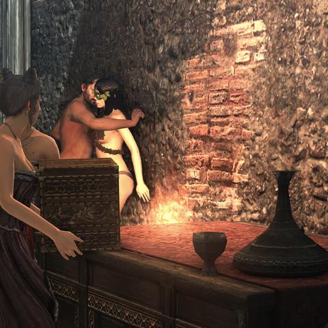 Claudia's courtisanes pakken het geld.