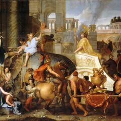 <b>Alexandre</b> entrant dans Babylone avec un Bâton d'Éden