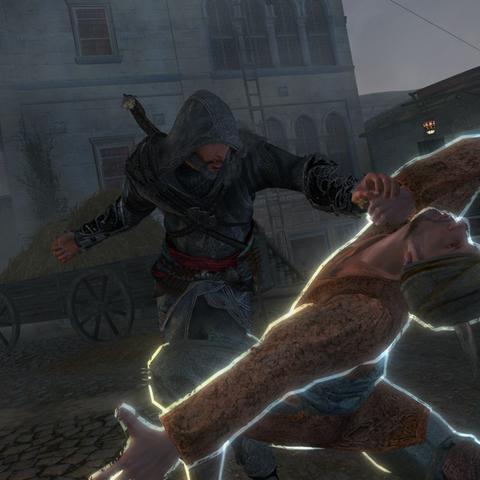 Ezio tuant un <b>traqueur</b>