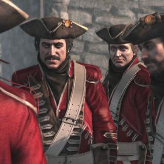 约翰逊和他的伙伴们伪装成英军