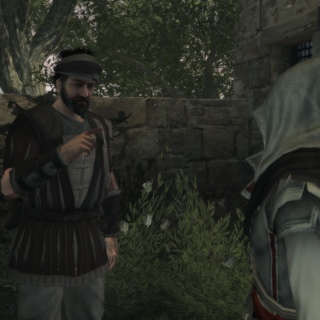 Un mercenaire s'adressant à Ezio