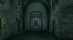 Cripta Auditore porta esterna notte