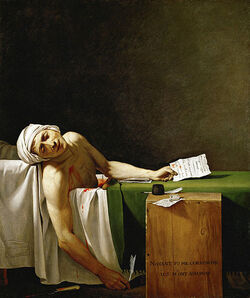 Jacques-Louis David - La Mort de Marat-1-
