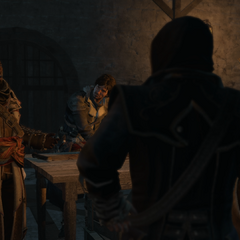 Le Chasseur meeting with the Assassins