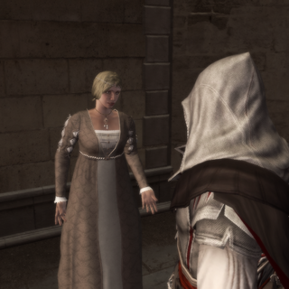 Ezio remettant la première lettre