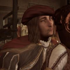 Leonardo accueillant Maria