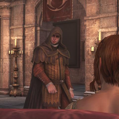 La Volpe expliquant l'absence de Machiavelli à Ezio