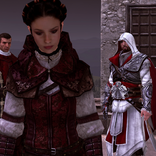 Claudia Auditore about to perform her leap of faith
