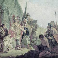 <b>Alexandre</b> durant la bataille de l'Hydaspe