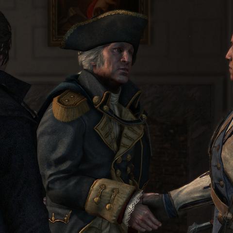 塞缪尔·亚当斯把康纳介绍给乔治·华盛顿