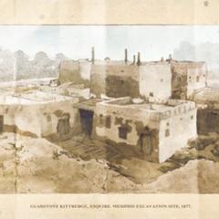 孟斐斯无形者据点的发掘现场,绘于约1877年