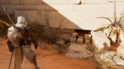 ACO What's Yours Is Mine - Bayek finding entrance
