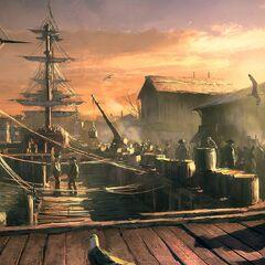 Harbor area of Boston