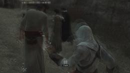 Altaïr okrada wyplatacza koszy