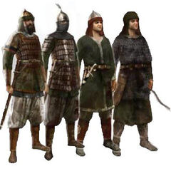 Different types of Saracen soldiers