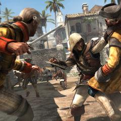 Edward affrontant des gardes aux lames secrètes à <b>La Havane</b>