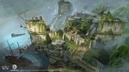 ACRogue insediamento river valley concept art