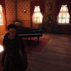 La salle de jeu où fut jadis assassiné Edward Kenway