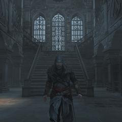Ezio verlaat het kasteel