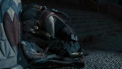 Kassandra kissing Phoibe farewell