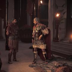 César donnant ses ordres à Flavius