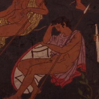 公元前5世纪的一幅描绘了阿喀琉斯的壁画