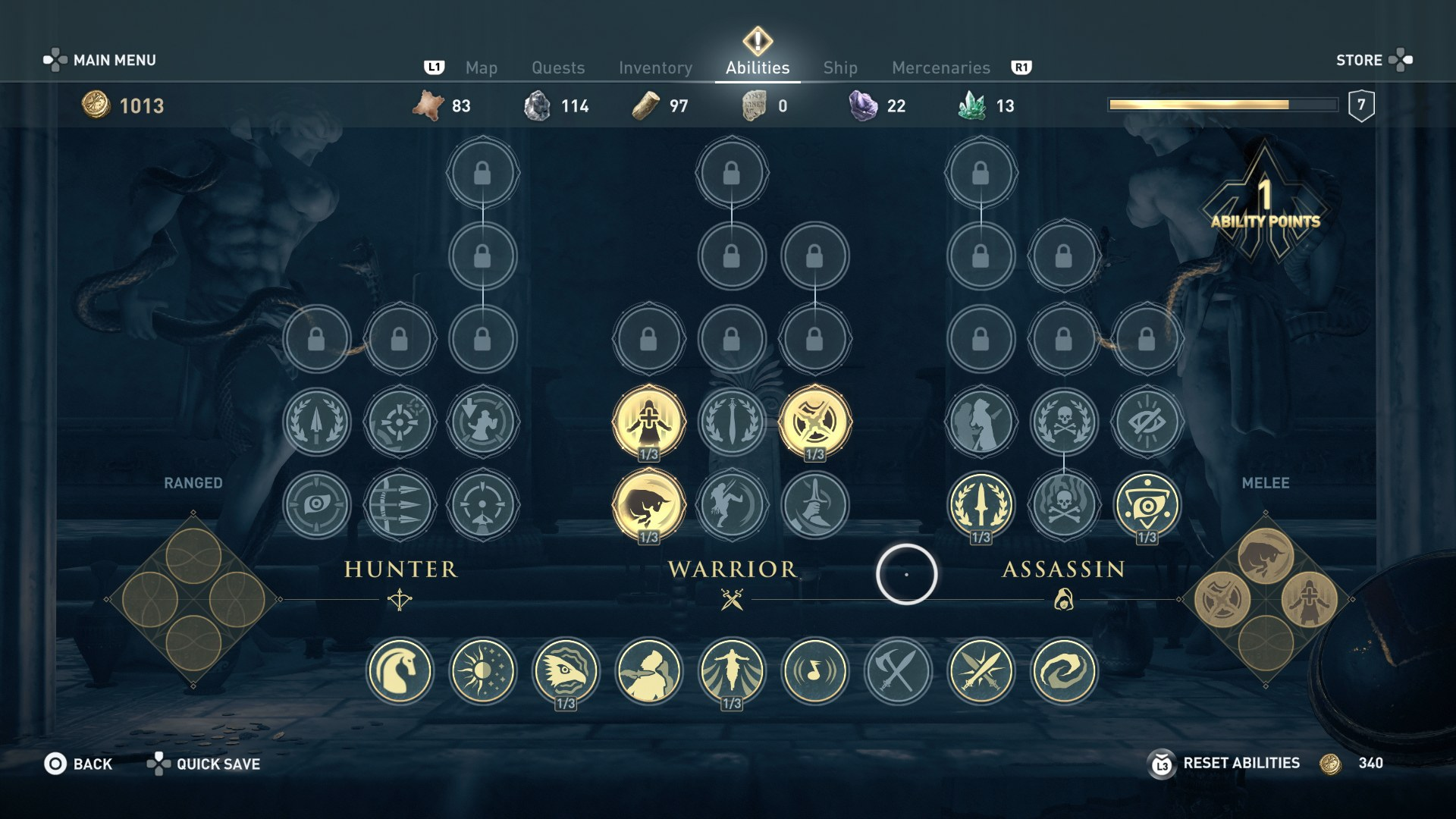 Skill Tree Assassin S Creed Odyssey Assassin S Creed Wiki