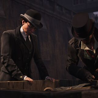 奈德和雅各布在端详偷来的内燃机