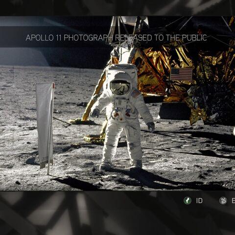 月球上的苹果的位置