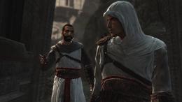 Wymiana złośliwości między Altaïrem, a Abbasem