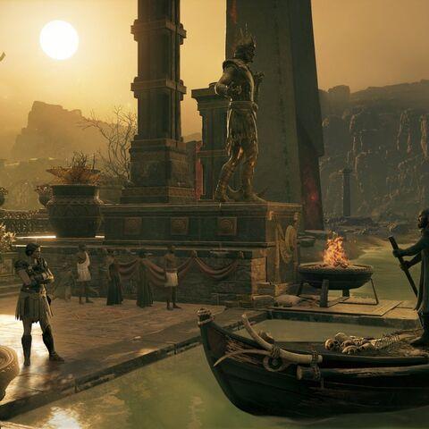 卡珊德拉与卡戎在冥河河畔见面