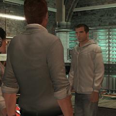 戴斯蒙德在藏身处遇见刺客们