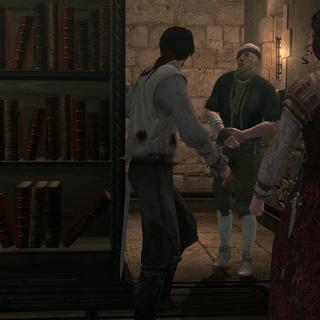 Paganino probeert met de anderen te ontsnappen