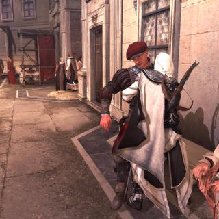 Ezio supprimant un garde