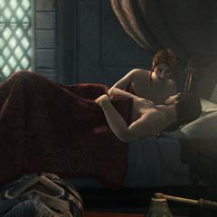 Caterina deelt een bed met Ezio.