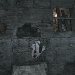 Ezio traversant la tanière