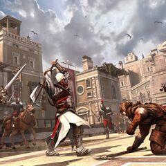 Ezio achevant Il Carnefice à la hache