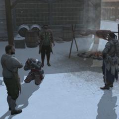 奥列佛帮助大卫和康纳拘押一名英国侦察兵
