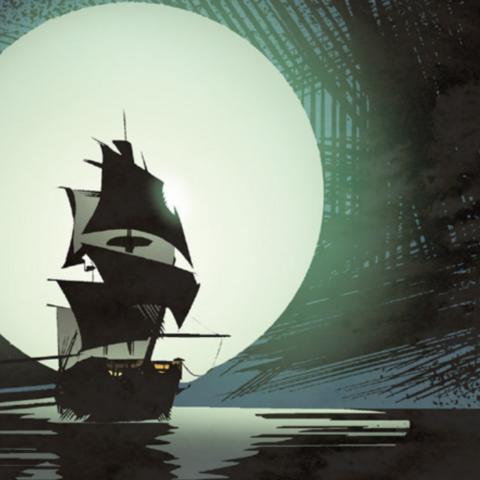 苎胥号在夜晚航行