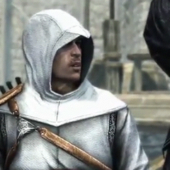 Altaïr talking with Al Mualim.