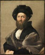 Baldassare Castiglione, by Raffaello Sanzio, from C2RMF retouched