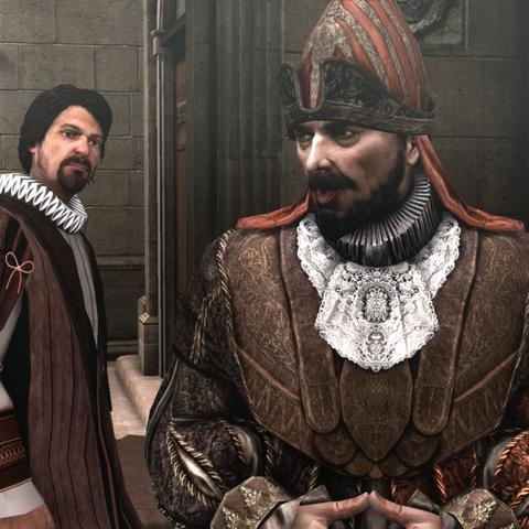 <b>Patrizio</b> discutant avec Ercole.